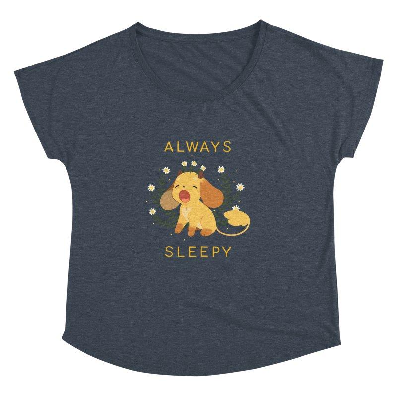Always Sleepy Women's Dolman Scoop Neck by StrangelyKatie's Store