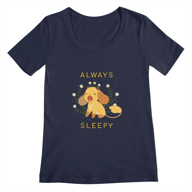 Always Sleepy Women's Regular Scoop Neck by StrangelyKatie's Store