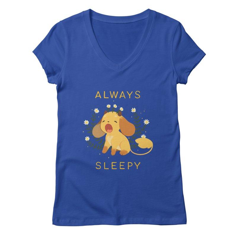 Always Sleepy Women's V-Neck by StrangelyKatie's Store