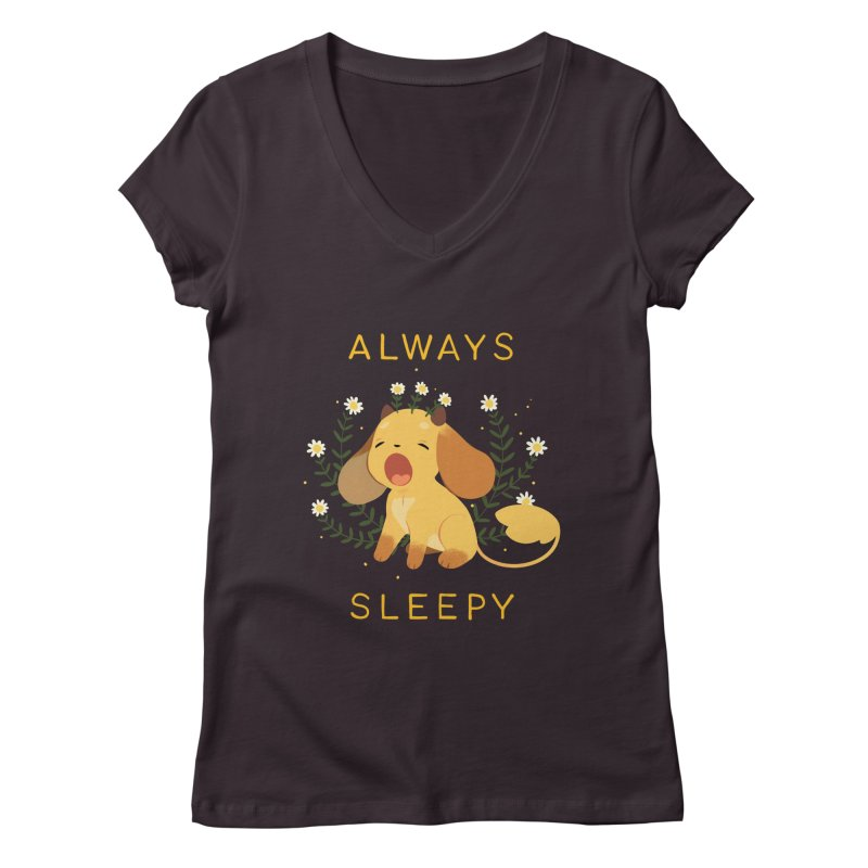 Always Sleepy Women's Regular V-Neck by StrangelyKatie's Store