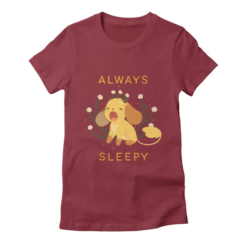 Always Sleepy Women's Fitted T-Shirt by StrangelyKatie's Store
