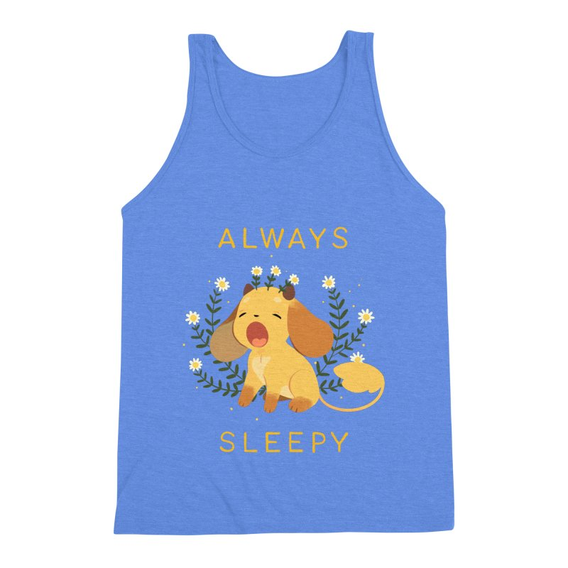 Always Sleepy Men's Triblend Tank by StrangelyKatie's Store