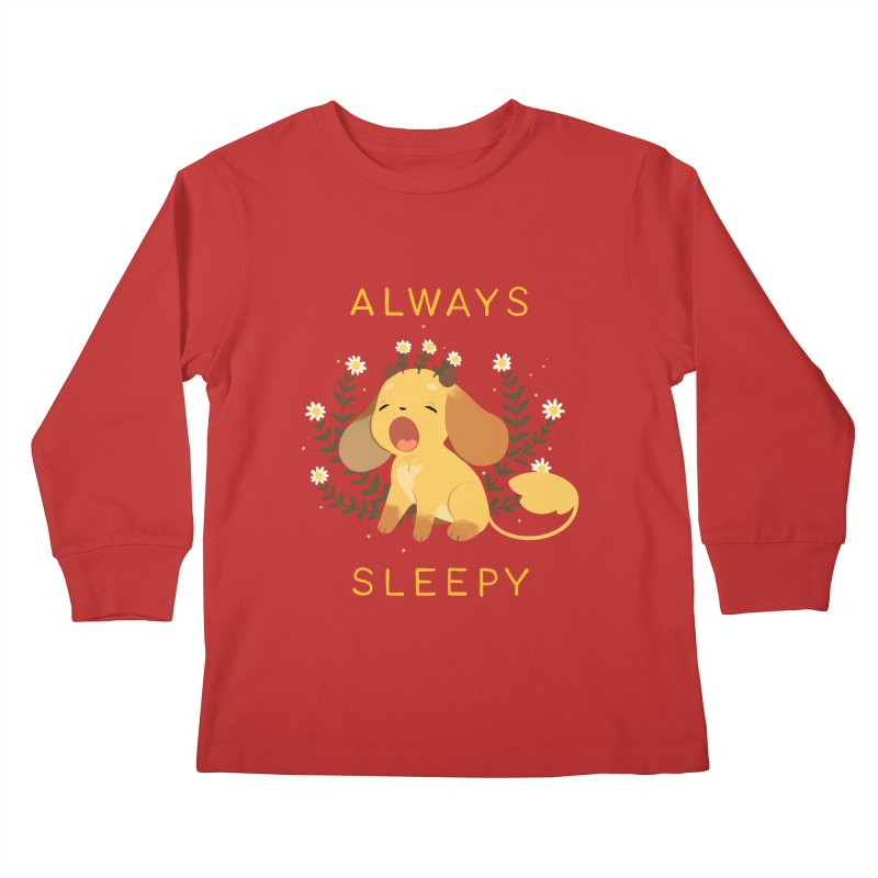 Always Sleepy Kids Longsleeve T-Shirt by StrangelyKatie's Store