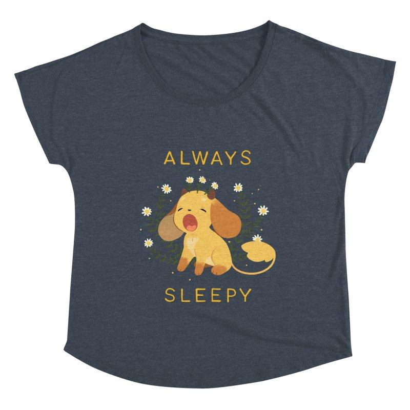 Always Sleepy Women's Scoop Neck by StrangelyKatie's Store