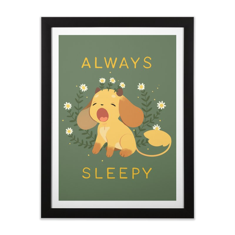 Always Sleepy Home Framed Fine Art Print by StrangelyKatie's Store