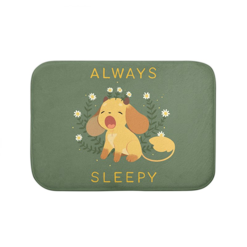 Always Sleepy Home Bath Mat by StrangelyKatie's Store