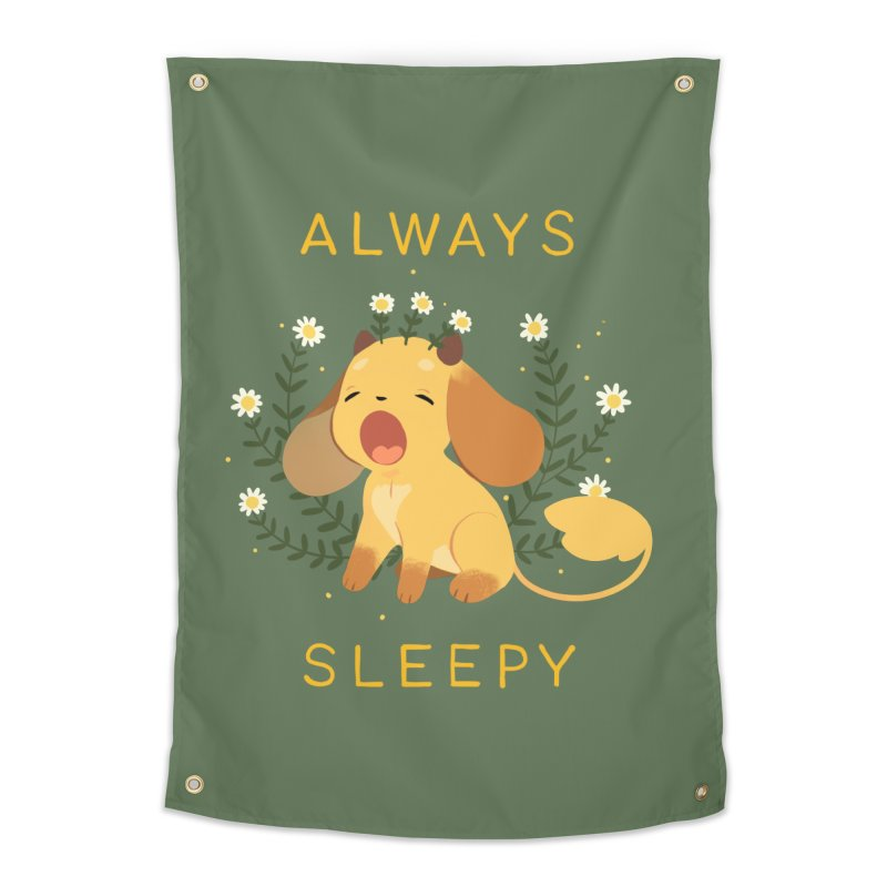 Always Sleepy Home Tapestry by StrangelyKatie's Store