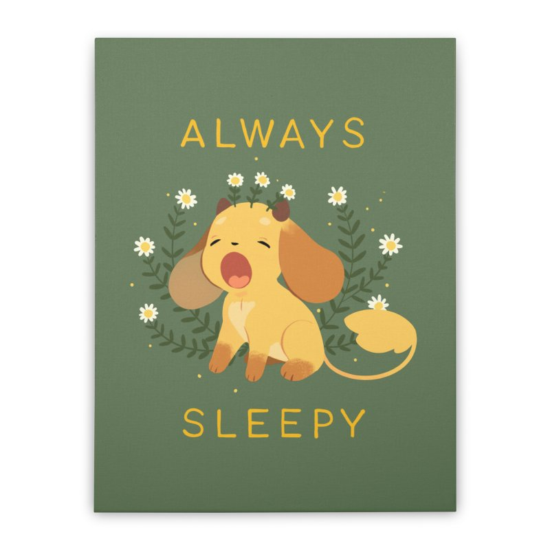 Always Sleepy Home Stretched Canvas by StrangelyKatie's Store