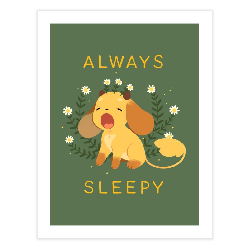 Always Sleepy Home Fine Art Print by StrangelyKatie's Store