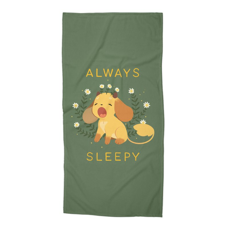 Always Sleepy Accessories Beach Towel by StrangelyKatie's Store