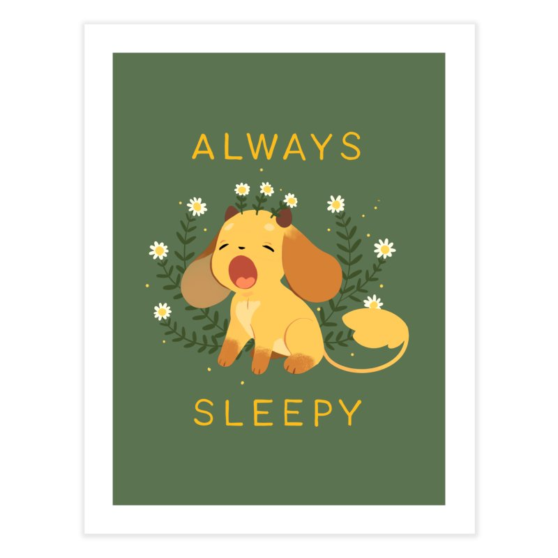 Always Sleepy Home Fine Art Print by StrangelyKatie's Store