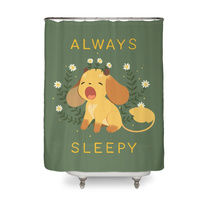 Always Sleepy Home Shower Curtain by StrangelyKatie's Store