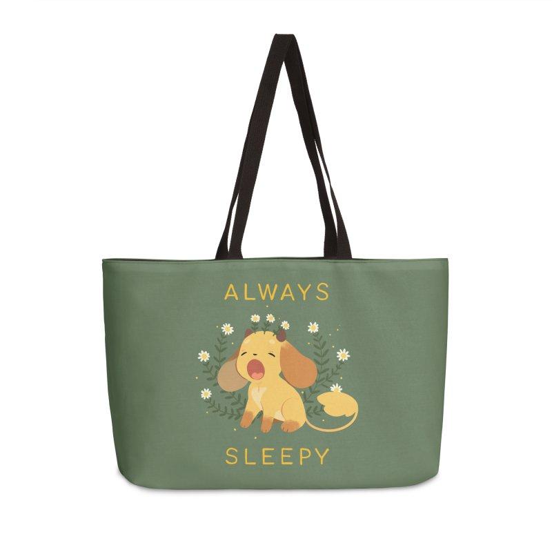 Always Sleepy Accessories Weekender Bag Bag by StrangelyKatie's Store