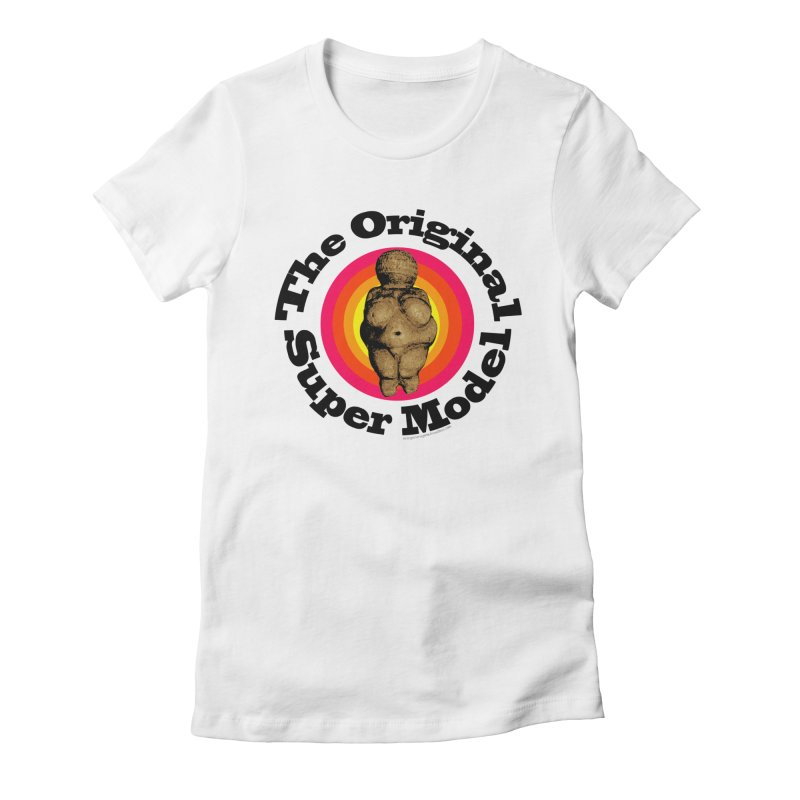 The Original Super Model Women's Fitted T-Shirt by Strange Menagerie