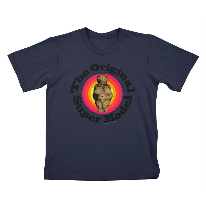 The Original Super Model! Kids T-Shirt by Strange Menagerie