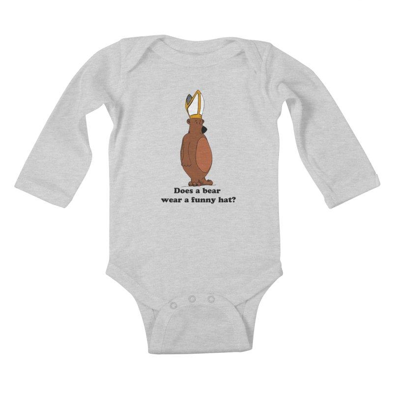 Does A Bear... Kids Baby Longsleeve Bodysuit by Strange Menagerie