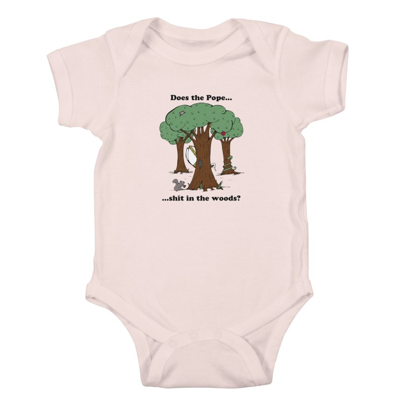 Does the Pope Sh*t in the woods? Kids Baby Bodysuit by Strange Menagerie