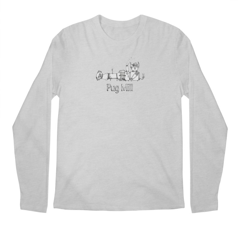 Pug Mill Men's Regular Longsleeve T-Shirt by Strange Menagerie