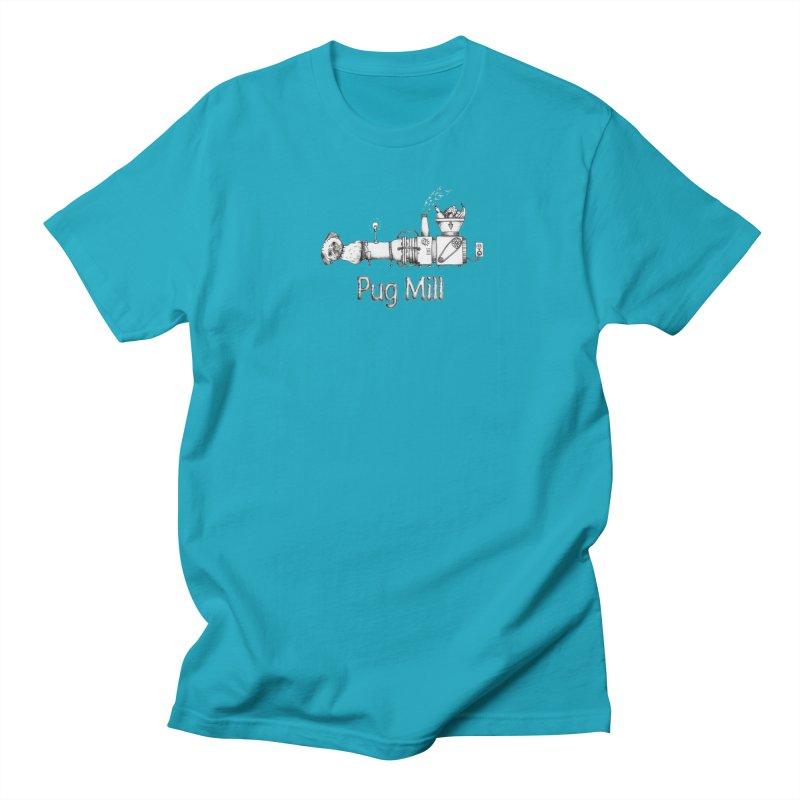 Pug Mill Women's Regular Unisex T-Shirt by Strange Menagerie