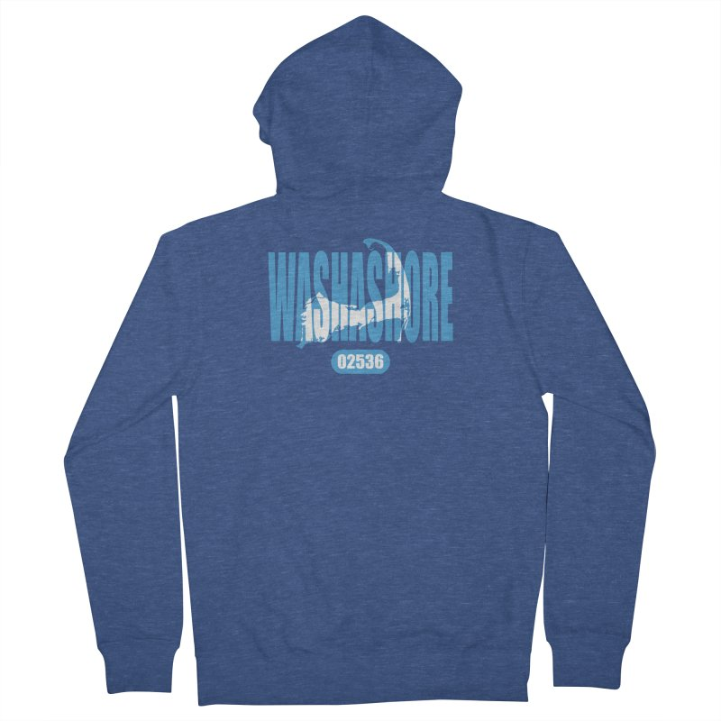 Cape Cod Washashore - 02536 Men's French Terry Zip-Up Hoody by Strange Menagerie