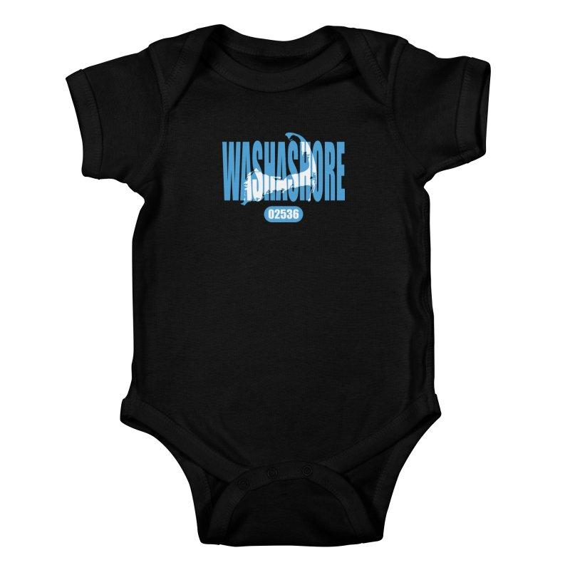 Cape Cod Washashore - 02536 Kids Baby Bodysuit by Strange Menagerie