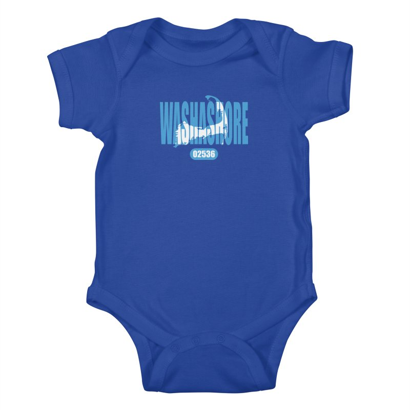 Cape Cod Washashore - 02536 Kids Baby Bodysuit by Strange Menagerie