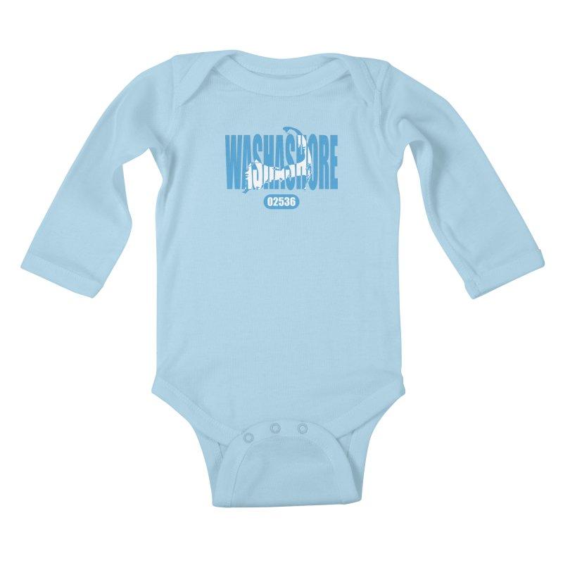 Cape Cod Washashore - 02536 Kids Baby Longsleeve Bodysuit by Strange Menagerie