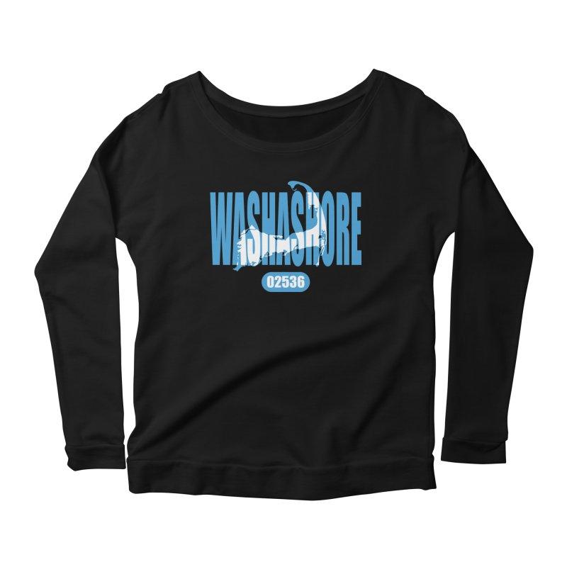 Cape Cod Washashore - 02536 Women's Longsleeve Scoopneck  by Strange Menagerie