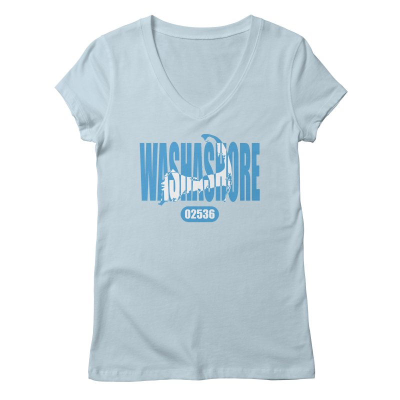 Cape Cod Washashore - 02536 Women's V-Neck by Strange Menagerie
