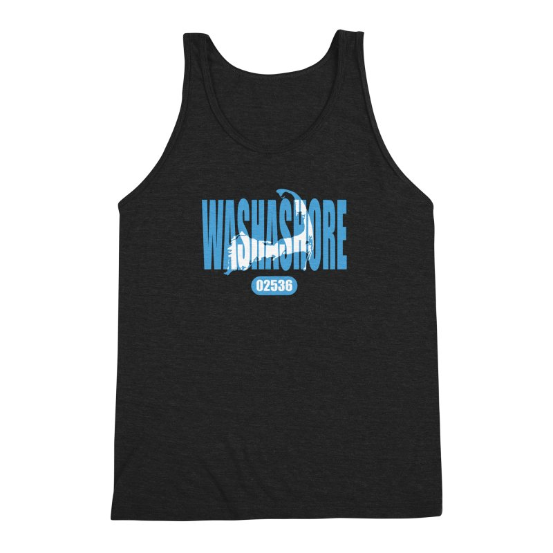 Cape Cod Washashore - 02536 Men's Triblend Tank by Strange Menagerie