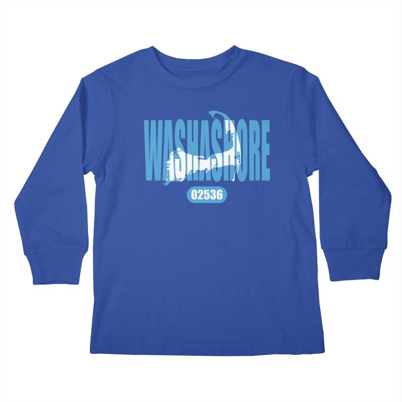 Cape Cod Washashore - 02536 Kids Longsleeve T-Shirt by Strange Menagerie