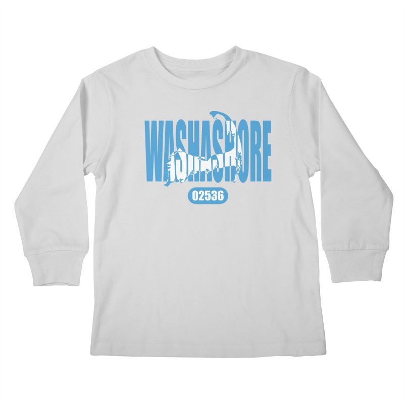Cape Cod Washashore - 02536 Kids Longsleeve T-Shirt by Strange Menagerie
