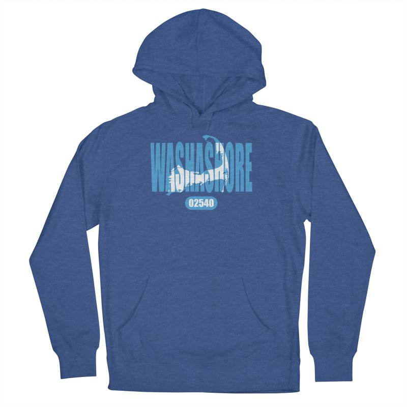 Cape Cod Washashore - 02540 [Falmouth] Women's French Terry Pullover Hoody by Strange Menagerie