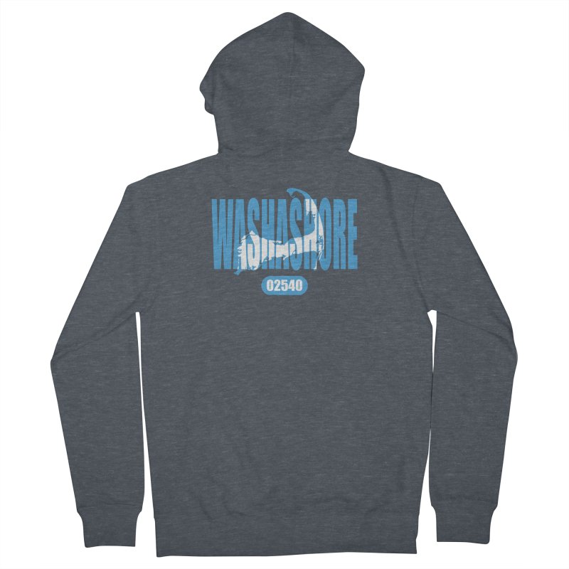 Cape Cod Washashore - 02540 [Falmouth] Women's French Terry Zip-Up Hoody by Strange Menagerie