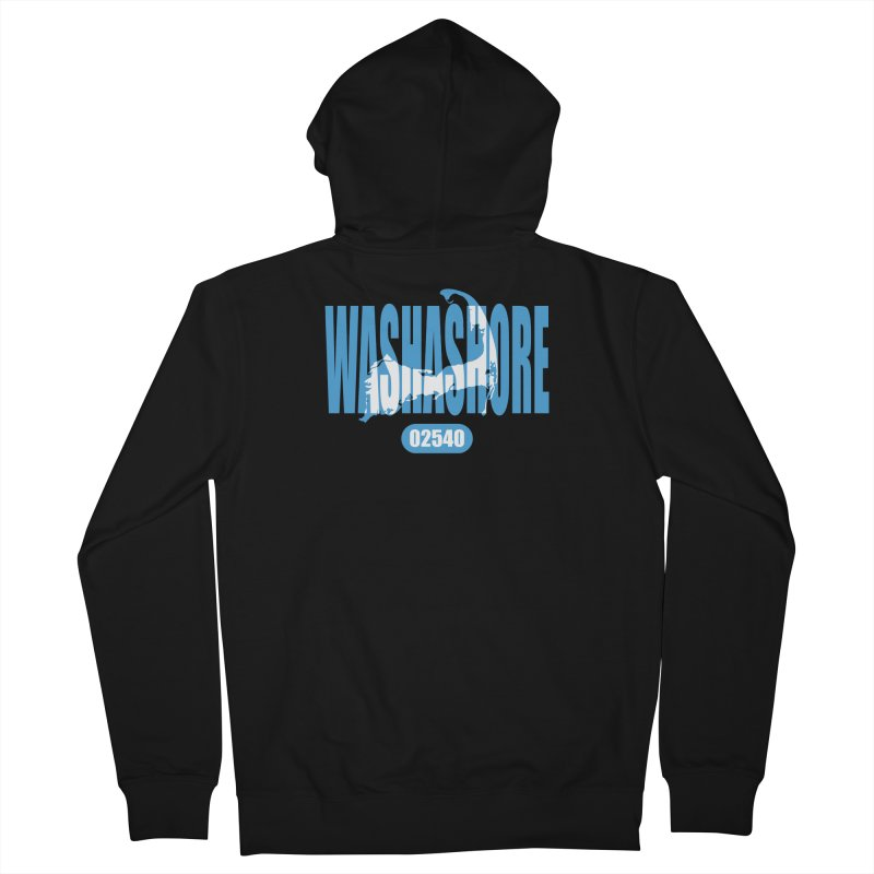 Cape Cod Washashore - 02540 [Falmouth] Men's Zip-Up Hoody by Strange Menagerie