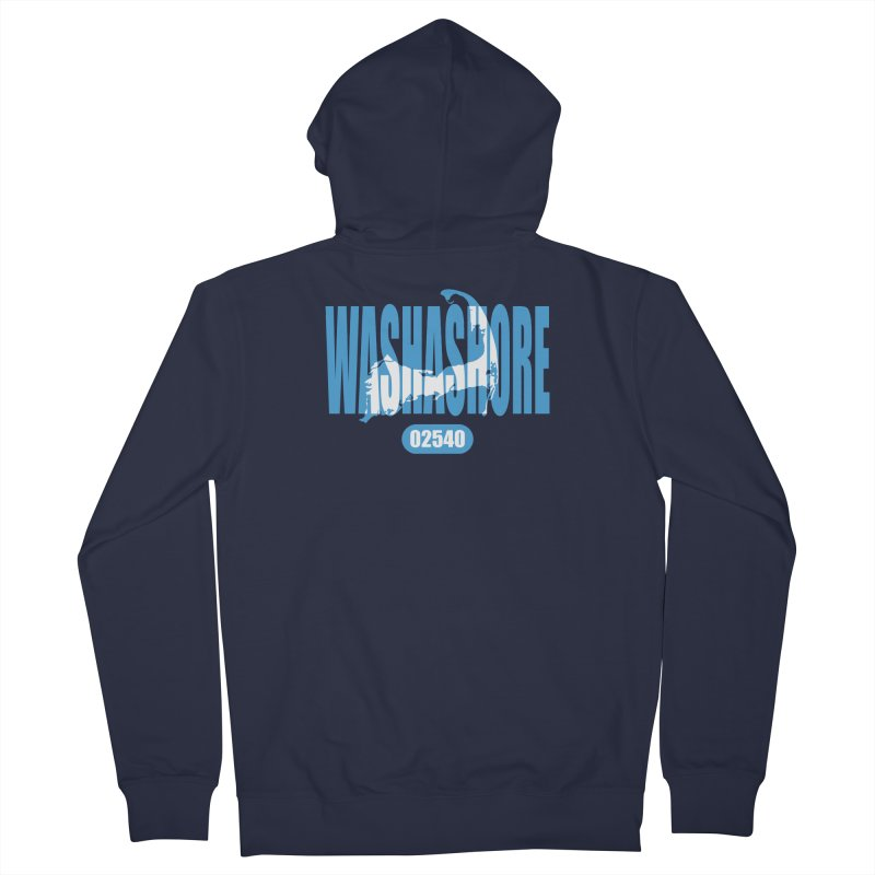 Cape Cod Washashore - 02540 [Falmouth] Men's French Terry Zip-Up Hoody by Strange Menagerie