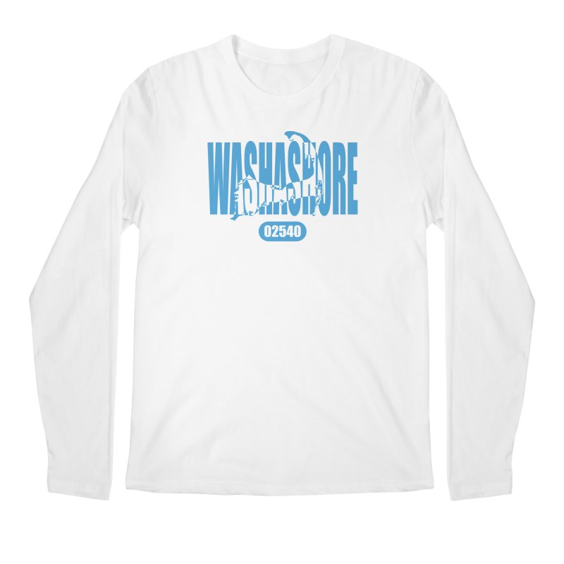 Cape Cod Washashore - 02540 [Falmouth] Men's Regular Longsleeve T-Shirt by Strange Menagerie