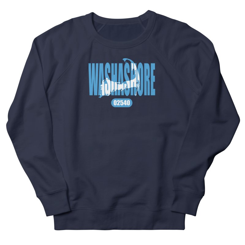 Cape Cod Washashore - 02540 [Falmouth] Women's French Terry Sweatshirt by Strange Menagerie