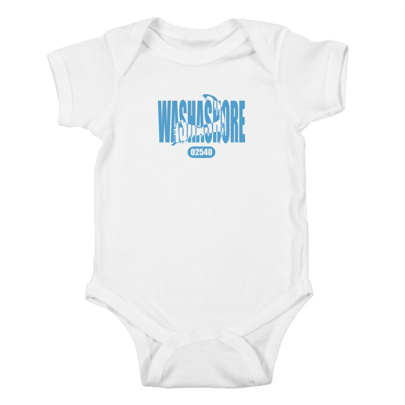 Cape Cod Washashore - 02540 [Falmouth] Kids Baby Bodysuit by Strange Menagerie