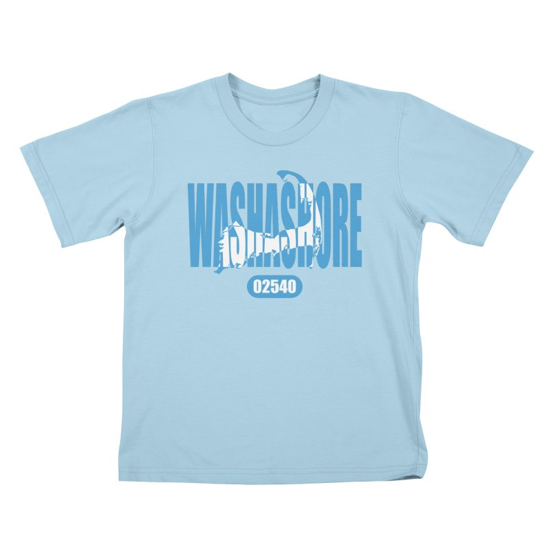 Cape Cod Washashore - 02540 [Falmouth] Kids T-Shirt by Strange Menagerie