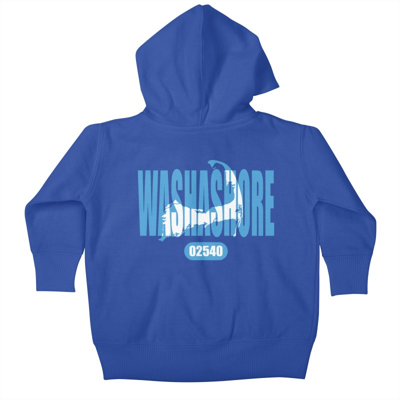 Cape Cod Washashore - 02540 [Falmouth] Kids Baby Zip-Up Hoody by Strange Menagerie