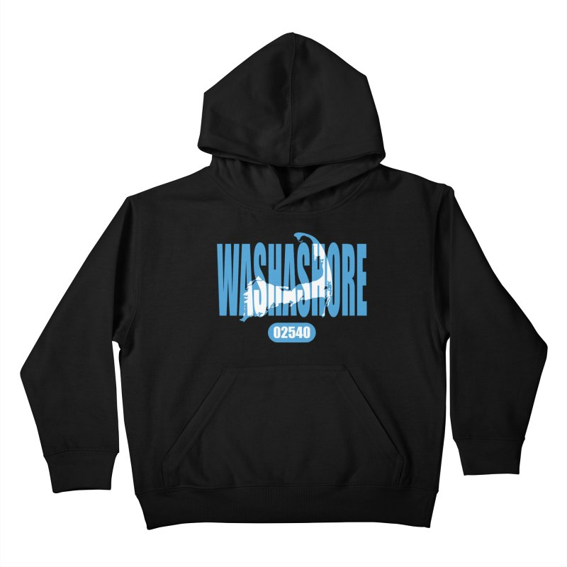 Cape Cod Washashore - 02540 [Falmouth] Kids Pullover Hoody by Strange Menagerie