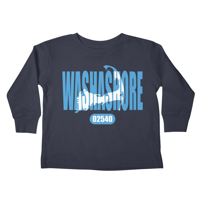 Cape Cod Washashore - 02540 [Falmouth] Kids Toddler Longsleeve T-Shirt by Strange Menagerie