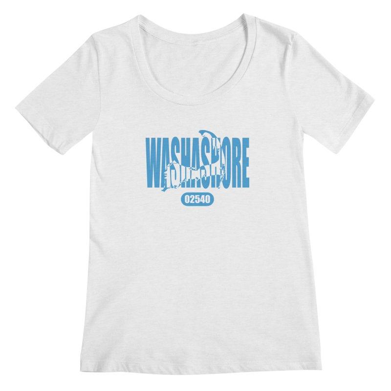 Cape Cod Washashore - 02540 [Falmouth] Women's Scoopneck by Strange Menagerie