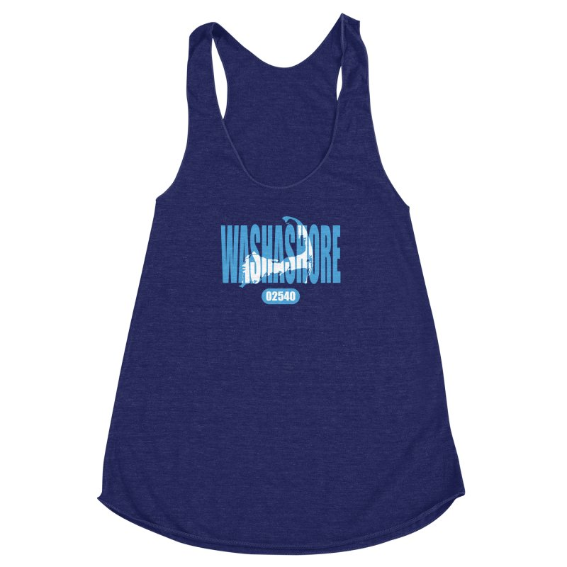Cape Cod Washashore - 02540 [Falmouth] Women's Racerback Triblend Tank by Strange Menagerie