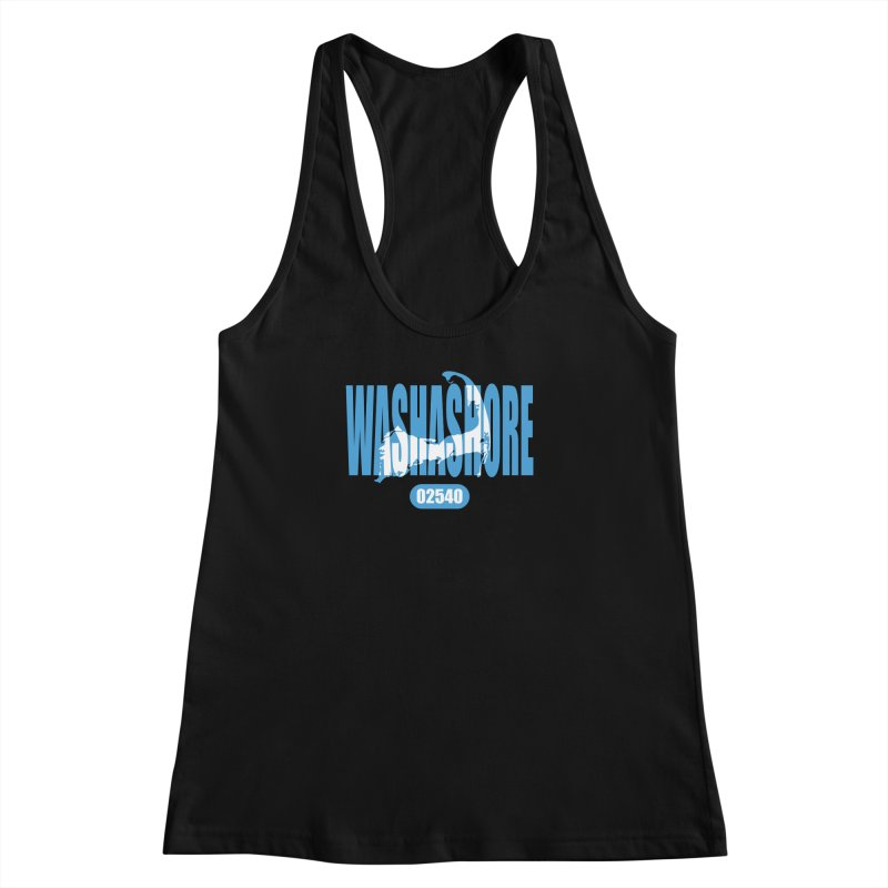 Cape Cod Washashore - 02540 [Falmouth] Women's Racerback Tank by Strange Menagerie