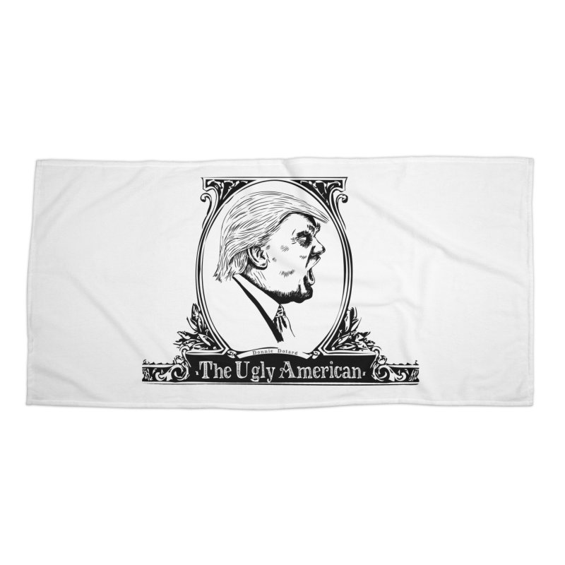 The Ugly American Accessories Beach Towel by Strange Menagerie