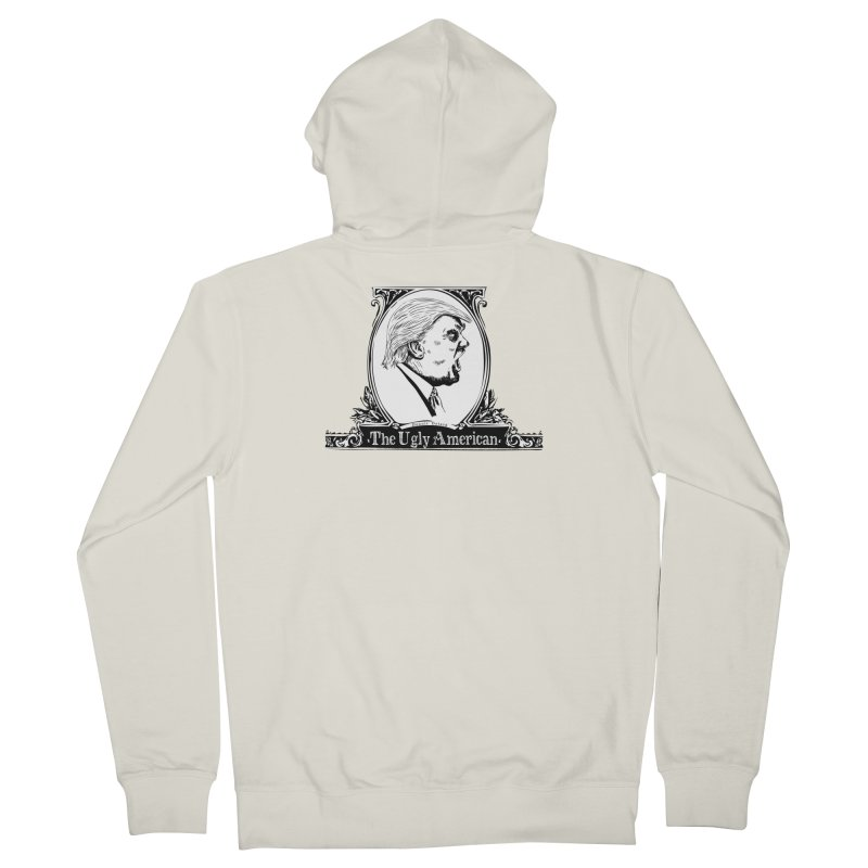 The Ugly American Women's French Terry Zip-Up Hoody by Strange Menagerie