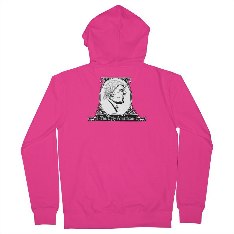 The Ugly American Men's French Terry Zip-Up Hoody by Strange Menagerie