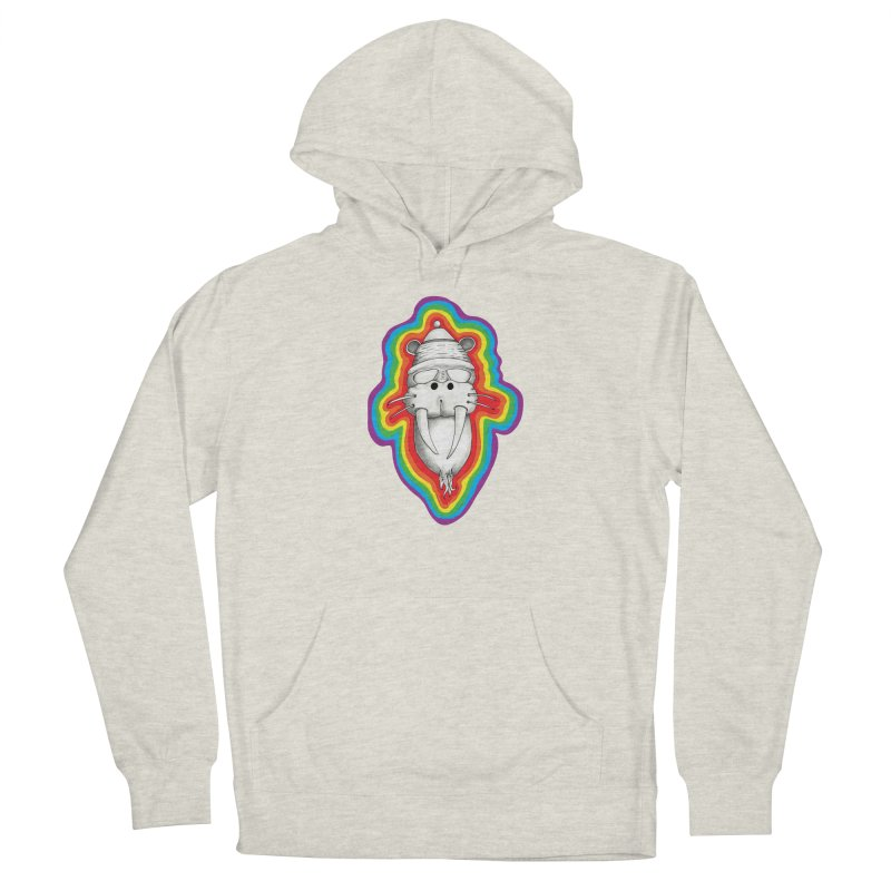 Walrus Monkey God Women's French Terry Pullover Hoody by Strange Menagerie